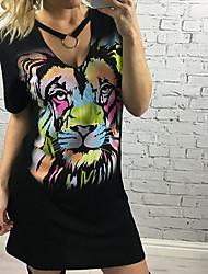 Les modèles d'explosion amazon ebay aliexpress en Europe et en Amérique&Robe imprimée en tigre