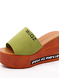 Sandals Summer Comfort PU Casual Wedge Heel