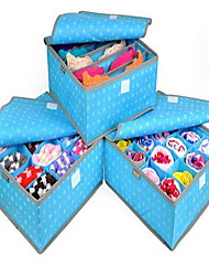 3pcs Storage Boxes Storage Units Non-woven withFeature is Lidded  For Underwear Cloth