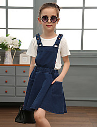 Girl's Going out Casual/Daily Party/ Solid Floral Embroidered DressPolyester Blended Cotton All Seasons Sleeveless