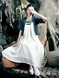 2017 été nouvelles dames rétro vent zen robe de coton de couture portent des vêtements chinois