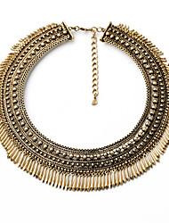 Mulheres Colarinho Forma Redonda Original Euramerican Bronze Jóias Para 1peça