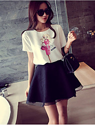 Women's Low Rise Going out Casual/Daily Mini Skirts A Line Solid Summer