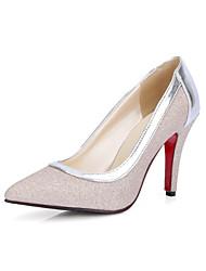 Heels Spring Summer Fall Club Shoes PU Wedding Office & Career Dress Stiletto Heel Silver Gold