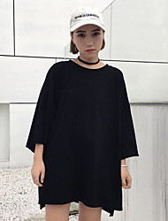 Really making new patch Harajuku style printing fifth sleeve T-shirt female loose round neck T-shirt tide