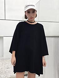 Vraiment faire un nouveau patch harajuku style impression cinquième t-shirt manches femelles loose rond t-shirt t-shirt marée