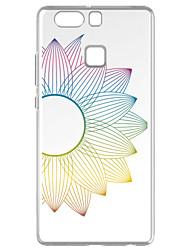 Para Transparente Diseños Funda Cubierta Trasera Funda Flor Suave TPU para Huawei Huawei P9 Huawei P9 Lite Huawei P8 Huawei P8 Lite