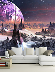 Art Deco Wallpaper For Home Wall Covering Canvas Adhesive Required Mural Colored Magical World Scenery XXXL(448*280cm)