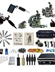 Kit de tatouage complet2 x Machine à tatouer en acier pour le traçage et l'ombrage 2 Machine à tatouage x alliage pour la doublure et