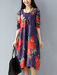 Really making new sanding thick stretch velvet printing loose big yards bottoming dress