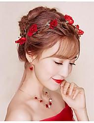 Perla Artificial Celada-Boda Ocasión especial Flores Palillo del pelo 5 Piezas