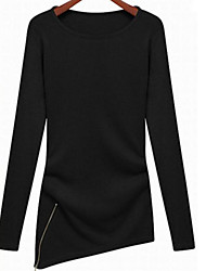European leg of female long-sleeved knit shirt Europe and America in the long paragraph Slim thin blouses