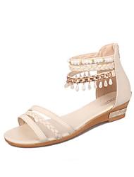 Women's Sandals Spring Summer Comfort PU Casual Low Heel