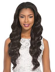 estilo ondulado laço do cabelo humano perucas 100% frente perucas de cabelo remy de renda para as mulheres