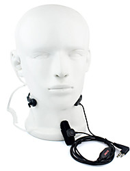 2 Pin PTT Throat MIC Headset Walkie Talkie Covert Acoustic Tube for Motorola GP88 GP300 GP2000 HYT TC-500S