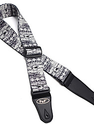Professional Straps High Class Guitar Acoustic Guitar Ukulele New Instrument Textile Musical Instrument Accessories Black White