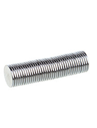 9.8*1mm Strong Rounded NdFeB Magnets - Silver (100 PCS)