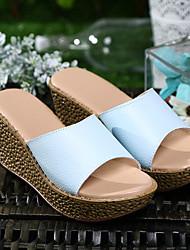 ocasional solas luz queda de couro sandálias de verão das mulheres