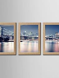 Estampados Fotográfico Famoso Paisagem Moderno Clássico,3 Painéis Panorâmico Vertical Impressão artística Decoração de Parede For