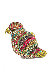 Women Rhinestone Animal Shape Birds Event/Party/Clutches Bags