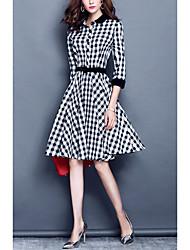 2016 nova moda personalidade queda manga saia de uma linha foi vestido de cintura fina