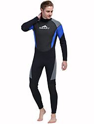 Men's 3mm Wetsuits Insulated Neoprene Diving Suit Long Sleeve Diving Suits-Swimming Diving Spring Summer Fall/Autumn Winter Classic