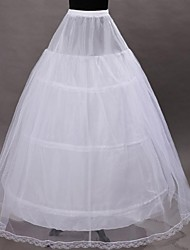 Déshabillés Robe trapèze Robe de soirée longue Mollet 1 Filet de tulle Polyester Blanc