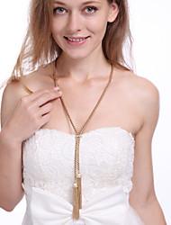Mulheres Colares com Pendentes Formato de Linha Liga Dourado Prata Jóias Para Diário 1peça