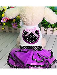 Cães Vestidos Roupas para Cães Verão Princesa Fofo Da Moda Casual Roxo