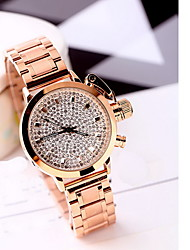 Women's Fashion Watch Water Resistant / Water Proof Imitation Diamond Japanese Quartz Rose Gold Plated Alloy Band Cool Casual LuxuryRose