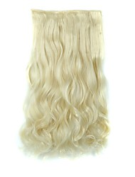 Clip In Hair Extensions Hairpiece 23inch 58cm 110g Curly Wavy Hair Extension Synthetic Heat Resistant  D1010 613#