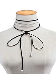 Women's Pendant Necklaces Rhinestone Imitation Pearl Rhinestone BowknotUnique Design Dangling Style Pendant Tassel Rhinestone Imitation
