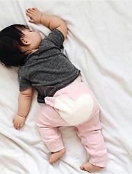 Baby Casual/Daily Color Block Print Pants,Cotton Spring Fall