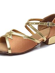 Chaussures de dansePersonnalisables-Talon Bottier-Similicuir Tissu-Latines