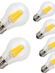 12W E26/E27 Ampoules à Filament LED A60(A19) 12 COB 1000 lm Blanc Chaud Blanc Froid Décorative AC 100-240 V 6 pièces