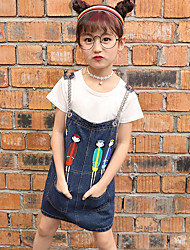 Girls' Going out Casual/Daily Holiday Striped Print Patchwork Sets Cotton Summer Short Sleeve Tee Overalls 2 Piece Clothing Set