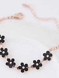 Chain Bracelet Alloy Resin Flower Fashion Women's Jewelry 1pc