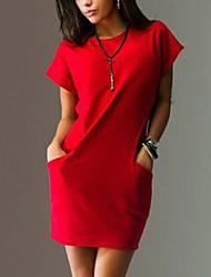 2016 modèles d'explosion aliexpress grand prix européen des femmes verges jupe robe de cou de poche à manches courtes rond chaud