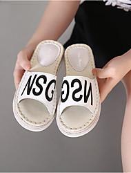 2016 neue koreanische Gezeiten schuhe Mode Schuhe Stroh Sandalen Hausschuhe Doppelboden personalisierte Buchstaben Modell