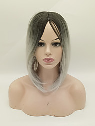 Synthetic Wigs 1B/Grey Color Short Cheap Bob Wigs Heat Resistant For Afro Women