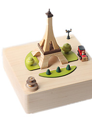 Music Box Famous buildings Leisure Hobby Novelty Wood