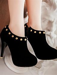 Damen-High Heels-Lässig-PU-Blockabsatz-Komfort-