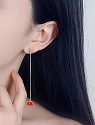 Boucles d'oreille goutte Original Pendant Argent sterling Rouge Bijoux PourMariage Soirée Occasion spéciale Halloween Anniversaire