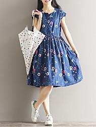 Signe une robe florale en coton à l'été 2017