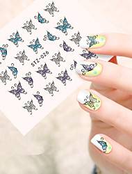 5pcs/set Sweet Nail Art Beauty Sticker Lovely Butterfly Nail Water Transfer Decals Beautiful Butterfly Design Decals STZ-026