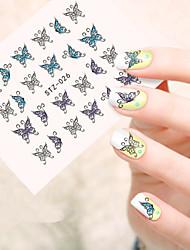 5pcs/set Sweet Nail Art Beauty Sticker Lovely Butterfly Nail Water Transfer Decals Beautiful Butterfly Design Decals STZ-026
