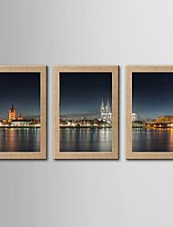 Estampados Fotográfico Famoso Paisagem Clássico Realismo,3 Painéis Panorâmico Vertical Impressão artística Decoração de Parede For