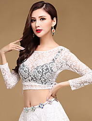 Shall We Belly Dance Tops Women's Training Chinlon Lace Top