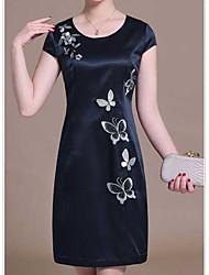 Hochwertige schwere Seidenkleid Sommer 2016 Frauen&# 39; s große Größe mittleren Alters Marke Seide Rock