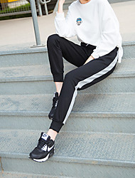 Sign spot female models 2016 new winter sports pants beam foot mosaic was thin pants trousers tide